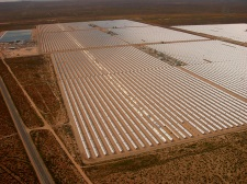 Concentrating Solar Power Plant utilising the solar trough method. Image by Alan Radecki. Click on the image to open in a new and larger window.