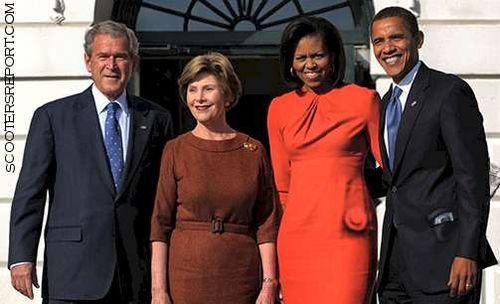 obamasvisitpresidentmrsbush
