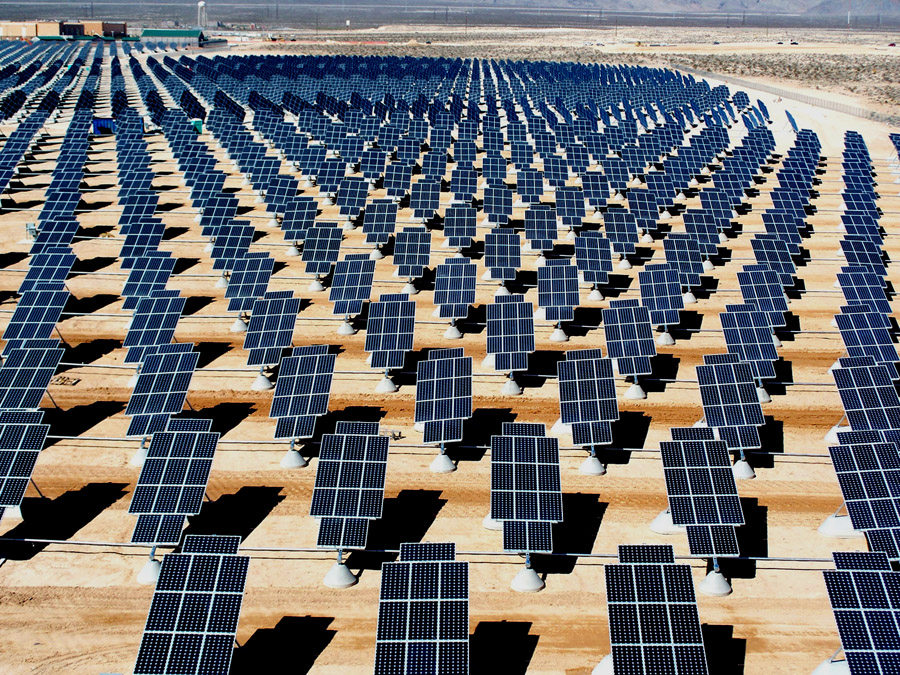 Beautiful clean energy Solar Array Nellis
