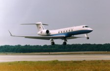 USAF C-37A, the Military variant of the Gulfstream V Executive aircraft.