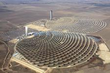 Concentrating Solar Power Plant utilising the Tower method. Click on the image to open in a new and larger window.
