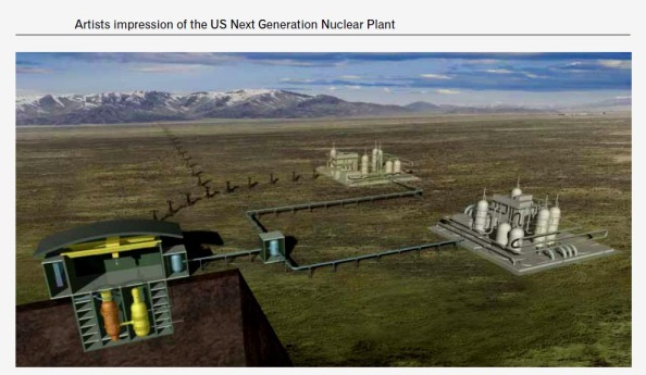 Proposed Fourth Generation Nuclear Power Plant. Image courtesy of Australian Government Umpner Report.