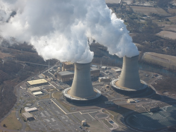 Limerick Nuclear Power Plant, on the Schuylkill River near Limerick, NW of Philadelphia PA. Commons Image.