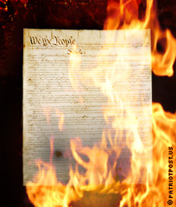 Constitution Burning