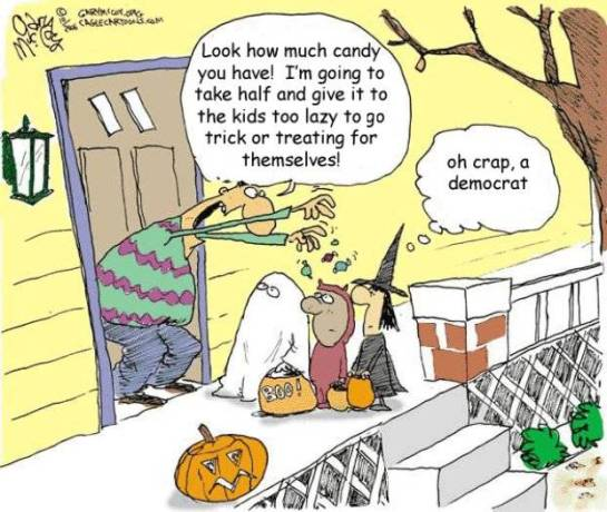 Democrat Cartoon - Halloween