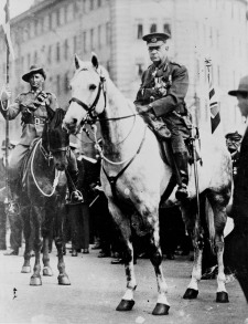 Monash reviewing his last ANZAC Day Parade, 25th April 1931. Image From Australian Government National Archives.