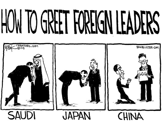 Obama Groveling to Foreign Leaders