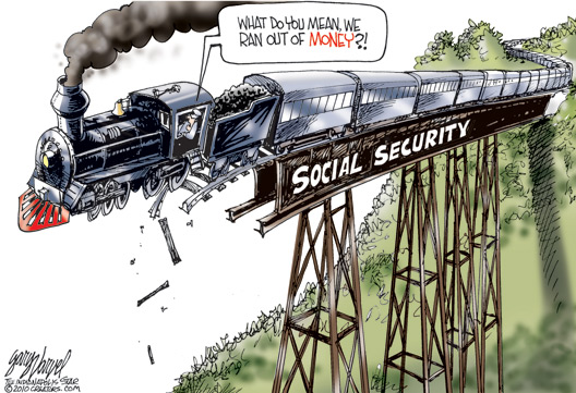 S.S. Train Wreck Cartoon