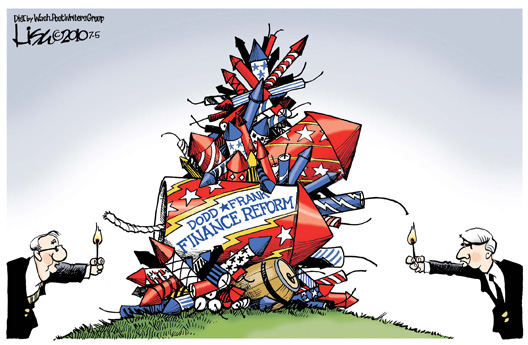 Finance Reform Ka-Boom Cartoon