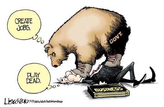 Govt. Vs Business Cartoon