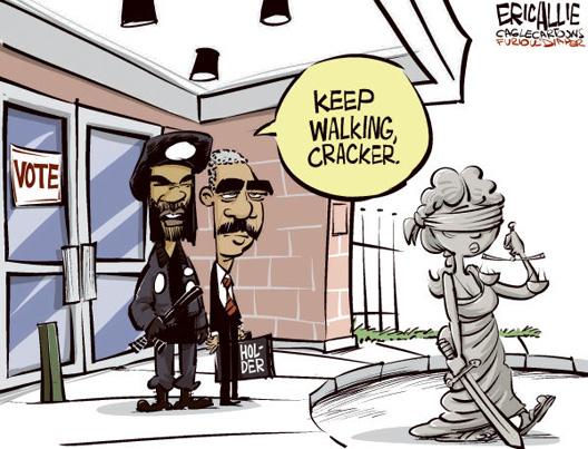Justice Kick Out Cartoon