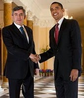 "Gordon Brown:  ""Hand sanitizer, please"