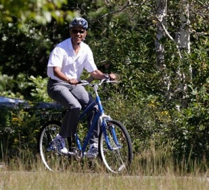 Obama-riding-a-bike