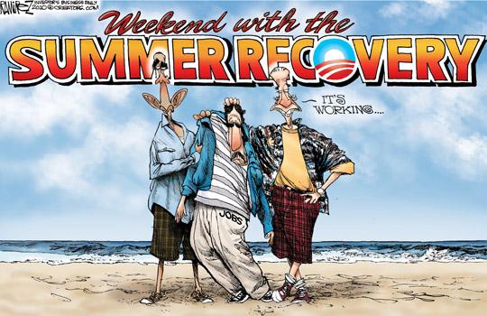 Summer Recovery Cartoon