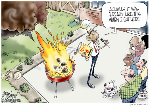 Obama's Denial Cartoon