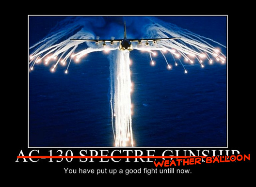 AC 130 Spectre Weather Balloon