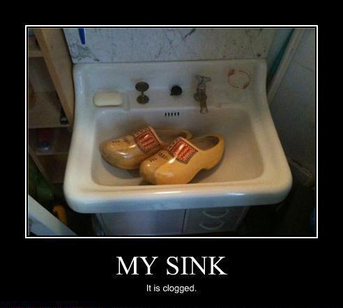 Clogged? Sink