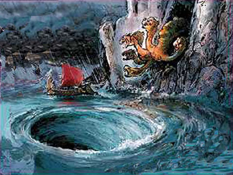 scylla and charybdis in homers the odyssey In homer's the odyssey, the scylla was a vicious sea monster that sail closer to scylla, or closer to her partner, charybdis monster wiki is a fandom.