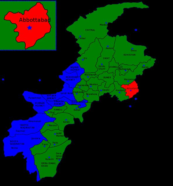 Abbottabad, Pakistan, north of Islamabad, Pakistan.