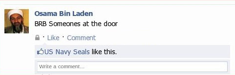 Osama's last Facebook post