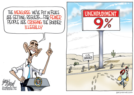 Solving The Illegal Alien Problem Cartoon