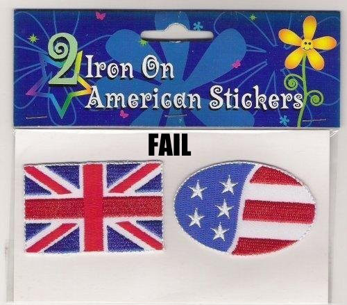 2 Iron On American Stickers?