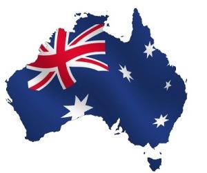 Australia and flag