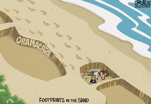 Footprints In The Sand Obama Style