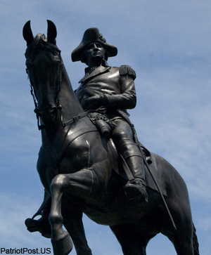 Washington astride Traveller