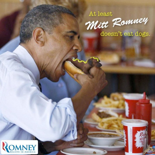 At Least Romney Doesn't Eat Dogs