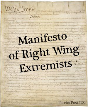 Right Wing Manifesto