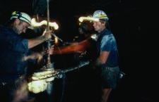 Coal miners working.  New