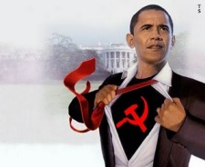 Obama w Hammer Sickle