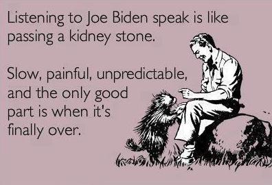 Listening To Biden Speak.......