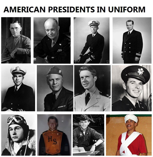 US Pres In Uniform