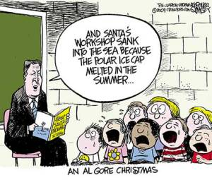 Cartoon - Al Gore and Santa