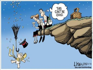 Cartoon - 2013 Over the Cliff