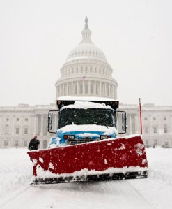 Capital Bldg in Snow