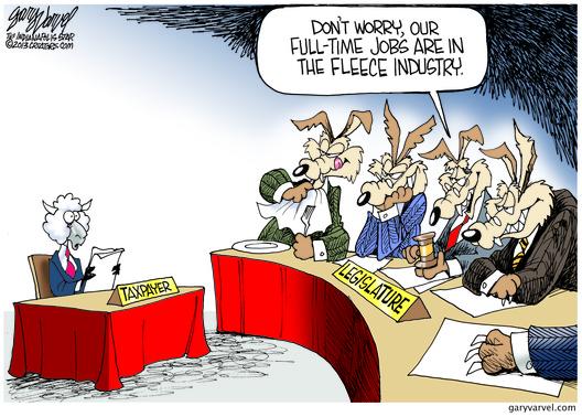 Legislators Fleece Taxpayers