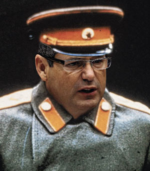 Digitally Altered Image Of Australian Government Communications Minister Stephen Conroy Dressed As Joseph Stalin. Image Source: The Daily Telegraph