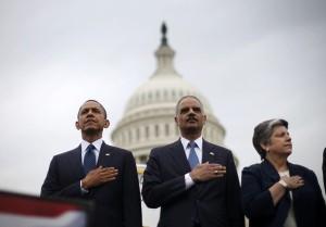 Barack Obama, Eric Holder, Janet Napolitano