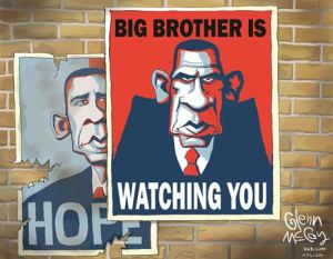 AA Cartoon - Obama as Big Brother
