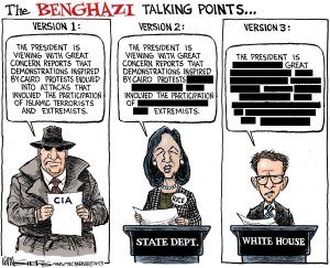 Cartoon - Benghazi Talking Points