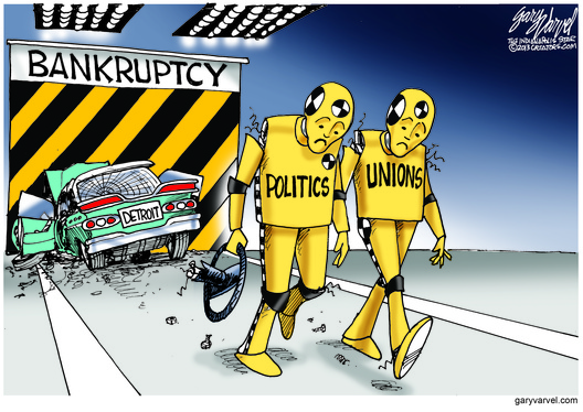 Cartoonist Gary Varvel: Detroit files for bankruptcy