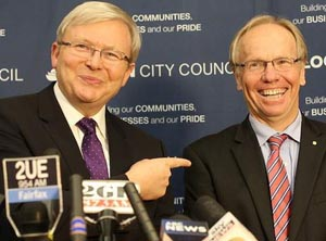 Kevin Rudd and Peter Beattie
