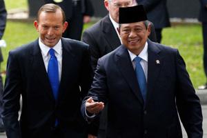 Australian Prime Minister Tony Abbott and Indonesian President Susilo Bambang Yudhoyono