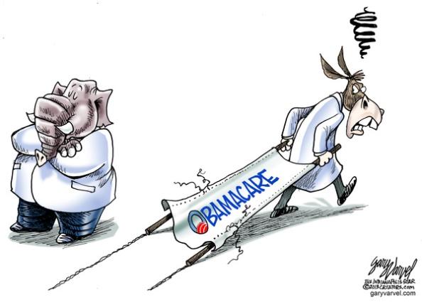 Cartoonist Gary Varvel: Democrats, Republicans and Obamacare