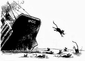 Cartoon - IPCC Sinking Ship