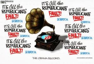 Cartoon - Republican's Fault