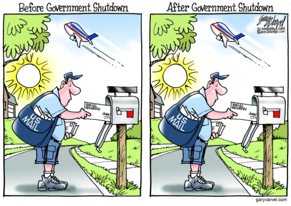 Cartoonist Gary Varvel: The before and after of a government shutdown